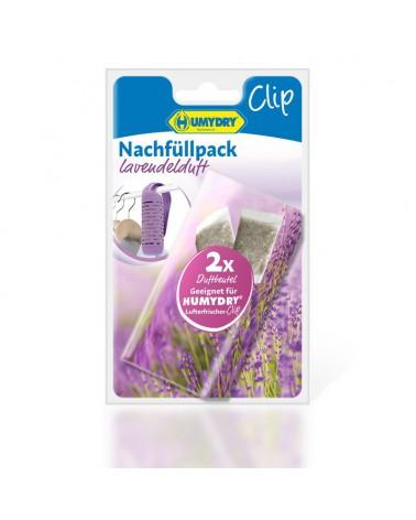 HUMYDRY®  Lufterfrischer-Clip Nachfüllpack 2x6g