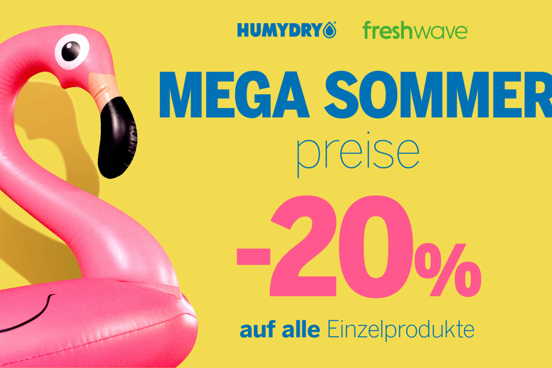 Mega sommer prese 20% Humydry & Freshwave